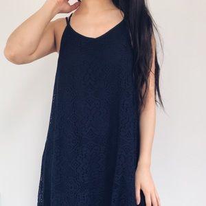 Dresses & Skirts - LAST 🆕 Natalie // Navy Blue Lace Crotchet Dress